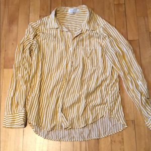 Tops - Yellow stripe button up